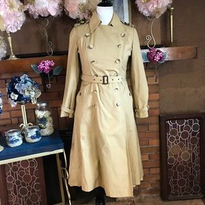 VINTAGE 1980'S MADE IN POLAND TRENCH COAT (8M)